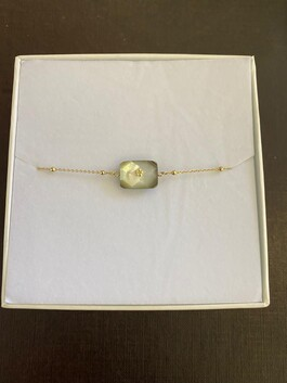 Gold Plated Bracelet With Coloured Fresh Water Pearl