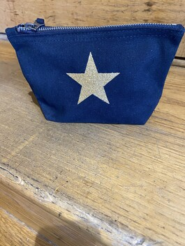 Small Canvas Star Makeup Bag