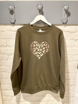Rose Gold Heart Print Design Jumper