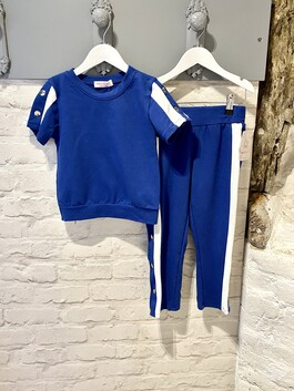 Stripe Tracksuit with stud poppers
